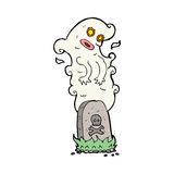 Cartoon ghost rising from grave Stock Photography
