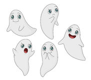 Cartoon Ghost Set Stock Images