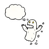 Cartoon ghost with thought bubble Royalty Free Stock Photos