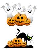 Cartoon Ghosts Jack-O-Lanterns