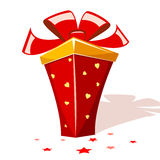 Cartoon gift Royalty Free Stock Photography