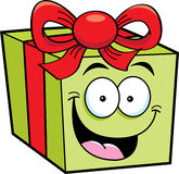 Cartoon Gift. Cartoon illustration of a happy gift Stock Images
