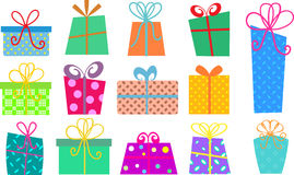 Cartoon gift boxes Stock Image