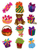 Cartoon gift icon Stock Photos