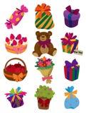 Cartoon Gift Icon Stock Photos