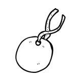 Cartoon gift tag Stock Photos