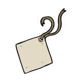 Cartoon gift tag Stock Image