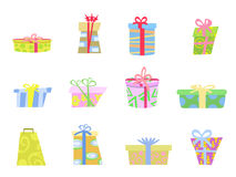 Cartoon gifts box Stock Images