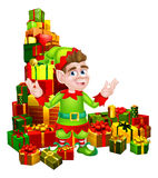 Cartoon Gifts Elf Royalty Free Stock Image