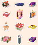 Cartoon gifts icon Royalty Free Stock Photography