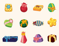 Cartoon gifts icon Stock Photography