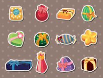 Cartoon Gifts Stickers Stock Photography