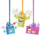 Cartoon gifts Royalty Free Stock Photography