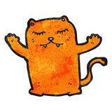 Cartoon ginger cat Royalty Free Stock Photos