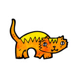 Cartoon ginger cat Royalty Free Stock Images