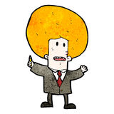 Cartoon ginger man in suit Royalty Free Stock Photo