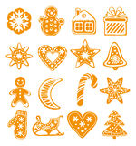 Vector cartoon  gingerbread cookies Stock Photos