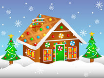 Free Cartoon Gingerbread House Royalty Free Stock Image - 81752116
