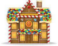 Cartoon gingerbread house Stock Photography