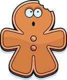 Cartoon Gingerbread Man Bite Royalty Free Stock Image