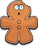 Cartoon Gingerbread Man Bite Royalty Free Stock Image
