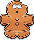 Cartoon Gingerbread Woman Bite Royalty Free Stock Image