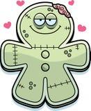 Cartoon Gingerbread Zombie in Love Stock Photos
