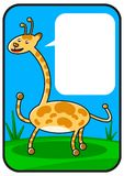 Cartoon giraffe Stock Photography