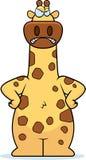 Cartoon Giraffe Angry Stock Photography