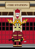 Cartoon Giraffe Fireman. An EPS file is also available.Cartoon Giraffe Royalty Free Stock Images