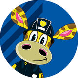 Cartoon Giraffe Fireman. An EPS file is also available.Cartoon Giraffe Stock Images