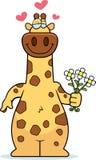 Cartoon Giraffe Flowers Stock Photo