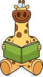 Cartoon Giraffe Reading Royalty Free Stock Photo