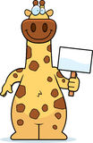 Cartoon Giraffe Sign Royalty Free Stock Photo