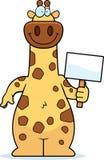 Cartoon Giraffe Sign Royalty Free Stock Photo