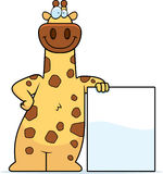 Cartoon Giraffe Sign Royalty Free Stock Images