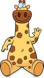 Cartoon Giraffe Sitting Stock Photo