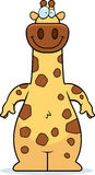 Cartoon Giraffe Smiling Stock Photography