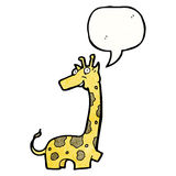 Cartoon giraffe with speech bubble Royalty Free Stock Photo