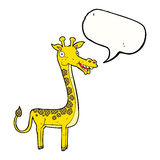 Cartoon giraffe with speech bubble Stock Photography