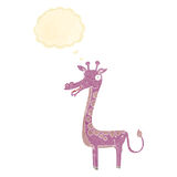 Cartoon giraffe with thought bubble Stock Image