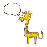 Cartoon giraffe with thought bubble Royalty Free Stock Photography