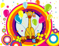 Cartoon giraffe vector Royalty Free Stock Image