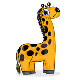 Cartoon giraffe. wild animal Royalty Free Stock Photo