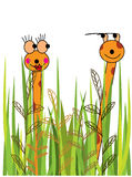 Cartoon giraffes Stock Image