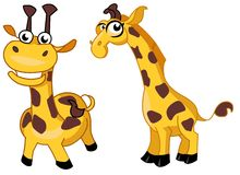 Cartoon giraffes Stock Photo