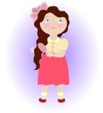 Cartoon girl Stock Photography