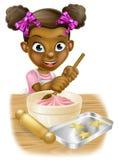 Cartoon Girl Baking Royalty Free Stock Image