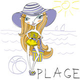 Cartoon girl Royalty Free Stock Photo