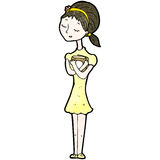 Cartoon girl with books Royalty Free Stock Photography